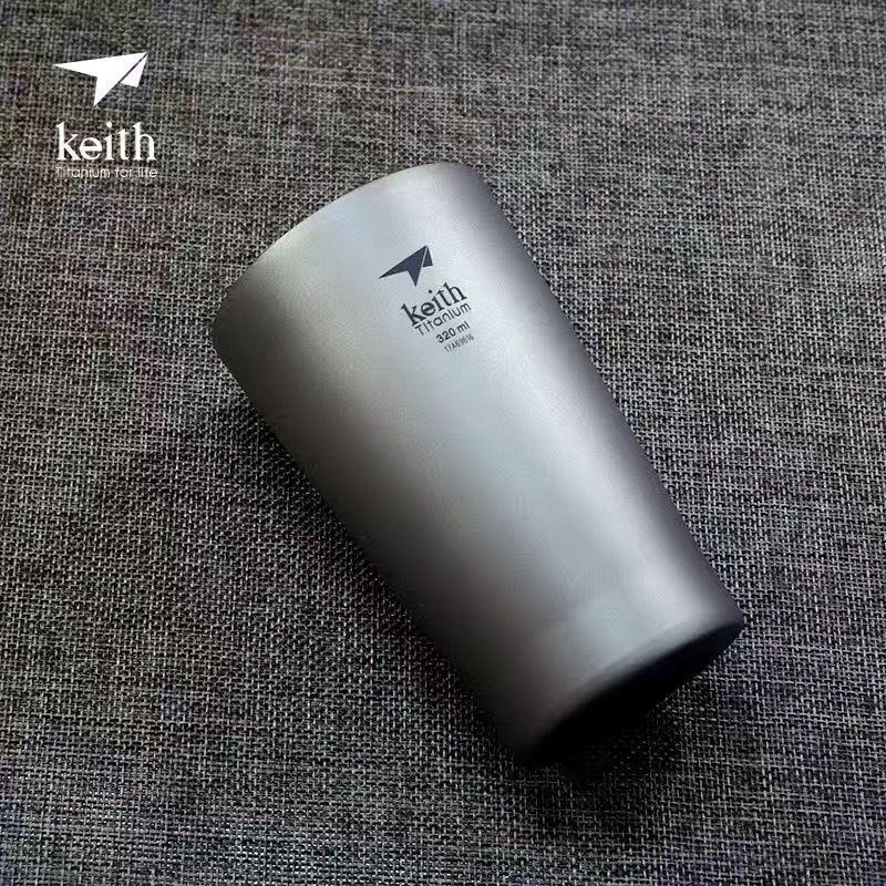 Double-Wall Camp Picnic Titanium Drinking Water Coffee Beer Tea Cup Mug Tumbler