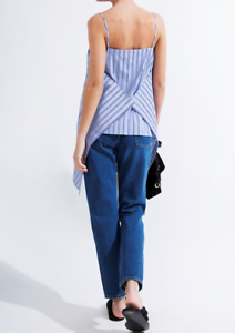 NWT  BALENCIAGA Striped cotton-poplin top Size F34