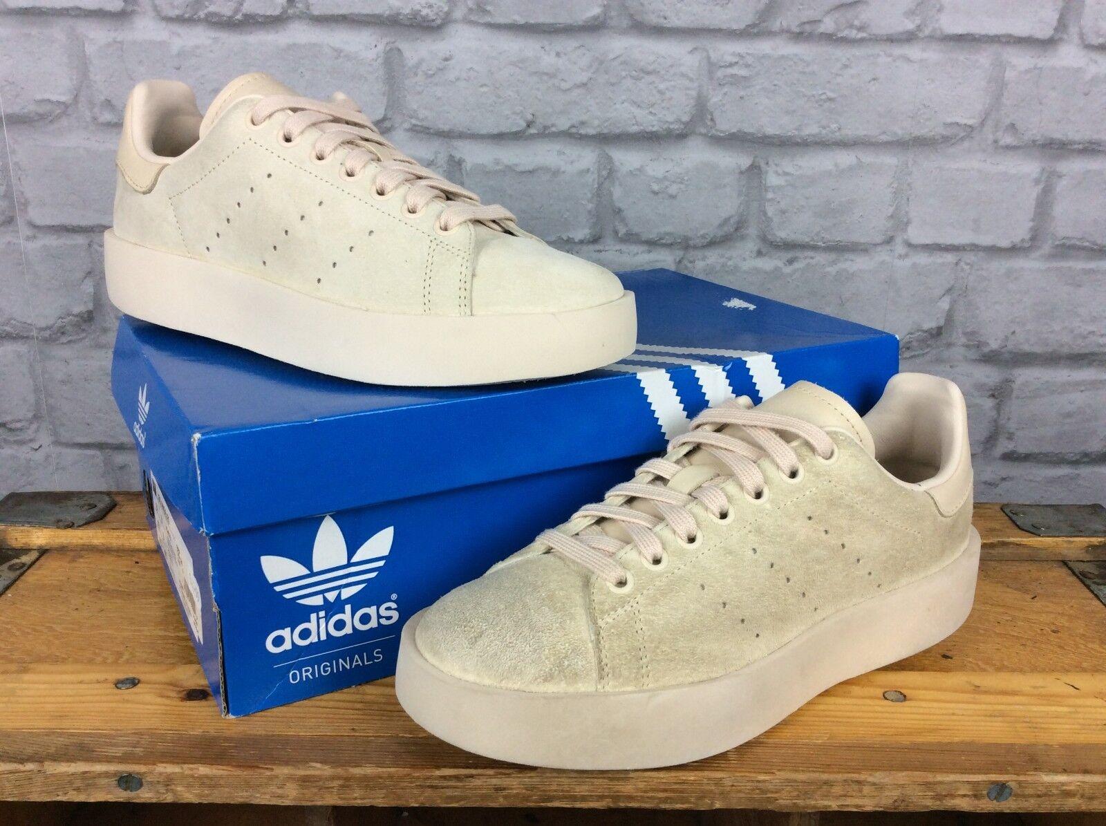Adidas Femmes UK 6 EU 39 1/3 lin Daim Stan Smith original Bold Baskets Beige