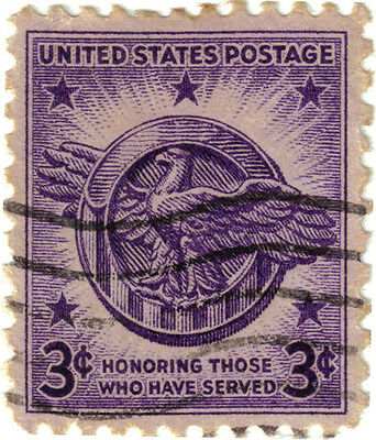 (USA266)1946 3cViolet honourable discharge emblem ow937