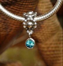 5b9f86ab6 Genuine Pandora Paraiba Topaz Flower Dangle Charm Replaced The Holy Grail V  Rare