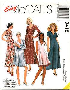 04984b2916b Image is loading McCalls-9418-Misses-V-Neck-Dresses-Sewing-Pattern-