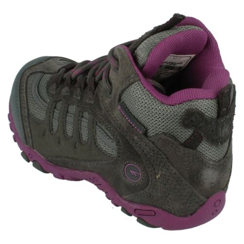 Details about  /Girls Penrith Mid WP JRG Lace Up Waterproof Winter Ankle Boots By Hi Tec