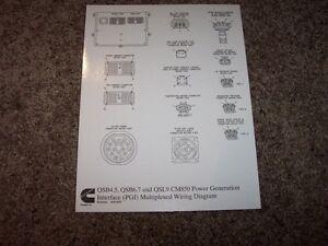 cummins qsb4 5 qsb6 7 qsl9 cm850 electrical wiring diagram manual ebay rh ebay co uk