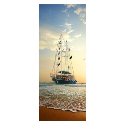 Tür-Aufkleber Türbild, Türtapete Segelschiff auf den Wellen Tapete