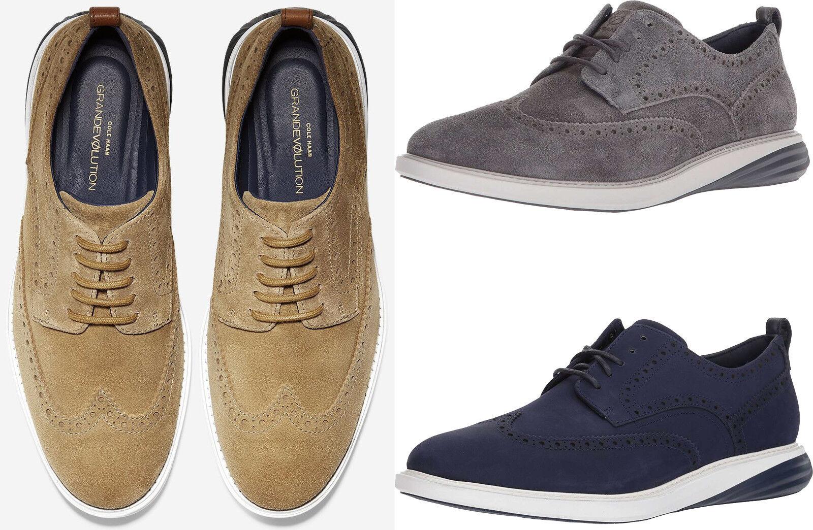 Men Cole Haan GrandEvolution Wingtip Oxford Shoes Brogue Oxfords NEW