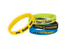 DC COMICS  BATMAN JOKER DARK KNIGHT RUBBER BRACELETS 4 COUNT SEALED! NEW!