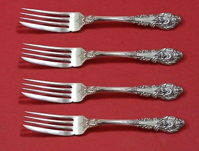 Antiques Other Antique Furniture Sir Christopher By Wallace Sterling Silver Fish Fork Set 4pc As Custom 7 1/4""