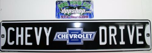 Chevy drive sign smooth chevrolet tag plate marker street st dr blvd man cave ss