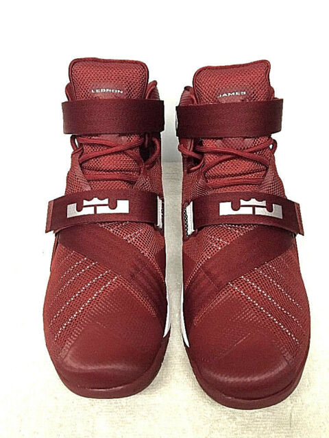 9a3c1916cc7e8 Lebron Soldier IX TB 813264-663 Basketball Shoes Sz 18 Red White ...