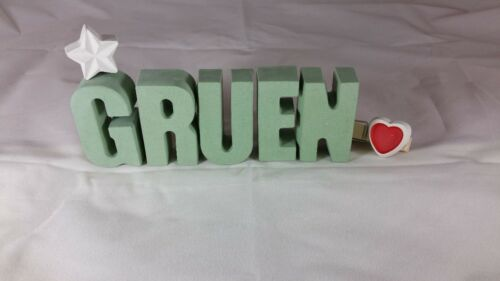 Beton Steinguss Buchstaben 3D Deko Namen ANNE als Geschenk verpackt!