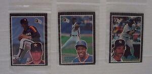 5 Donruss 1985 Action All Star Cards Dwight Gooden, Don Mattingly, Nolan Ryan