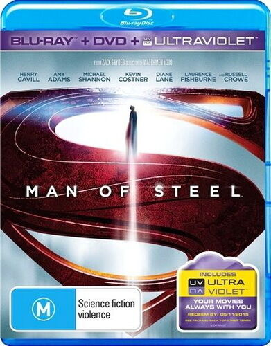 1 of 1 - Man Of Steel - Blu-ray / Dvd / Ultraviolet - Action / Superhero - NEW  Blu ray