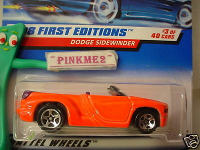 #3 FE Hot Wheels Orange DODGE SIDEWINDER 634 blue;wh HW∞First Editions