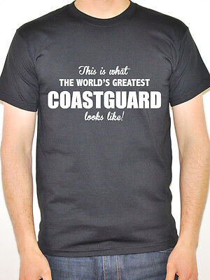 COASTGUARD BY DAY SUPERHERO Maritime Fun Sea Novelty Themed Mens T-Shirt