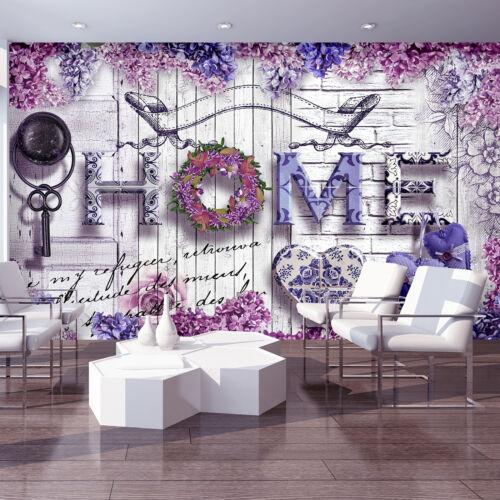 Nappes papier peint la fresque fleurs plantes fleurs roses coeur Mur Art 3514 ve