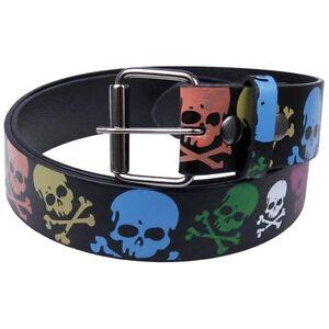 Neon-Skulls-Leather-Belt