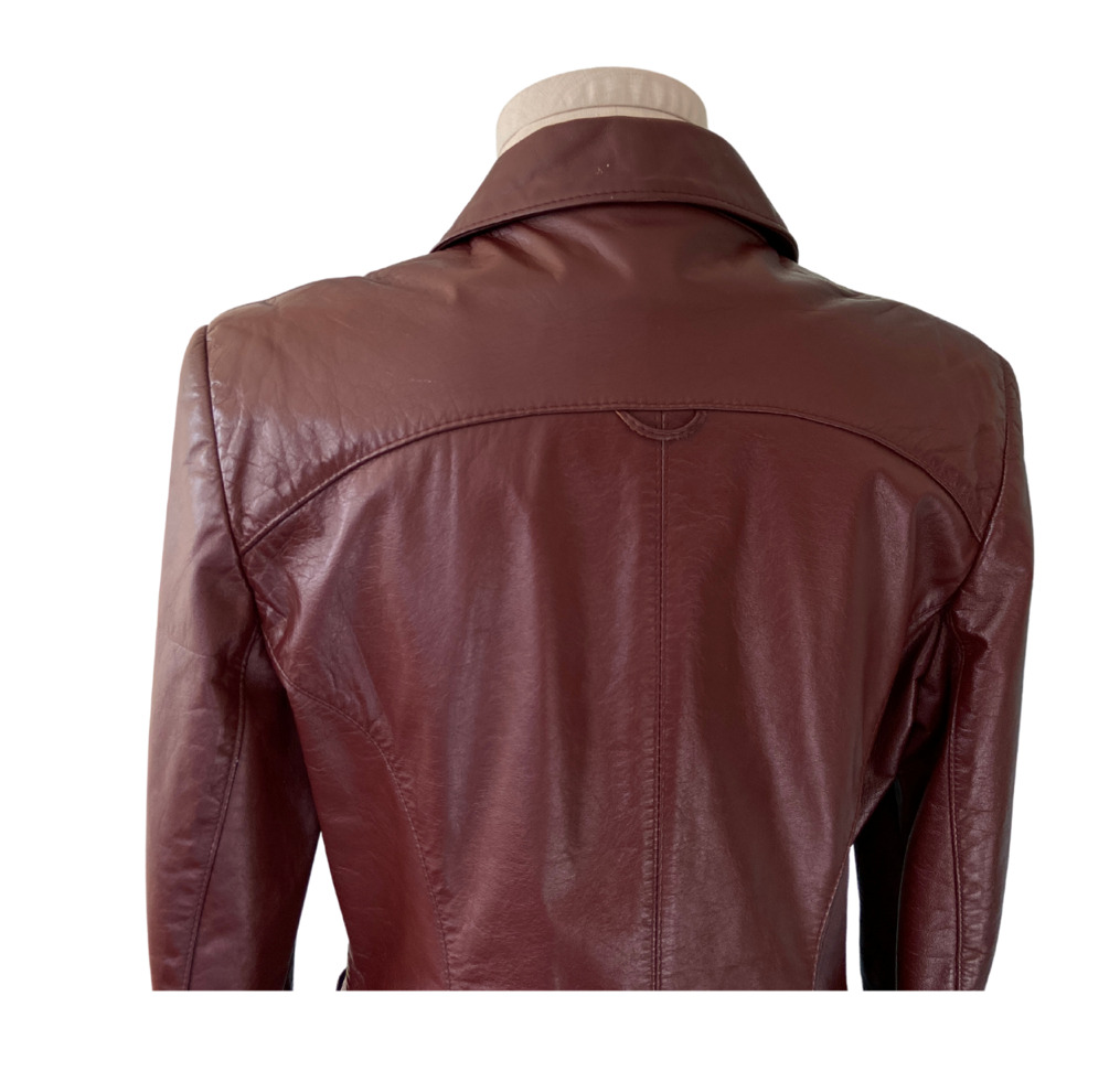 1970s Etienne Aigner Brown Fitted Blazer leather … - image 10