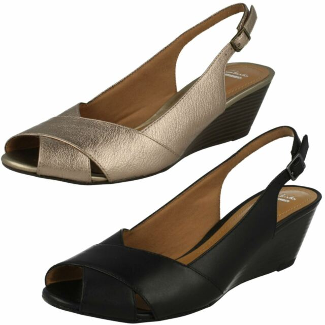 Nude Leather Ladies Wedge Sandals