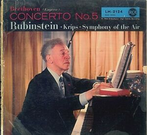 Beethoven, Rubinstein • Krips • Symphony Of The Air ‎– Concerto No. 5 (Emperor)