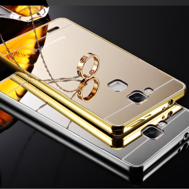 Luxury Aluminum Metal Mirror Case PC Back Cover Skin For LG Nokia Various Phone