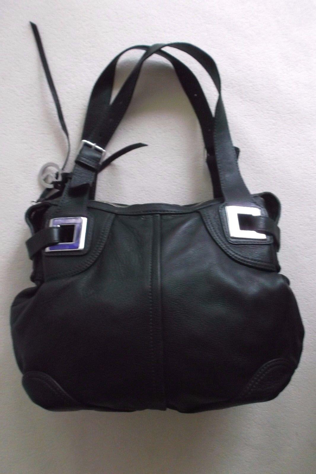 Damen Tasche Handtasche Leder Leder Leder schwarz L.Croti  Schultertasche | Wir haben von unseren Kunden Lob erhalten.  | Sale Outlet  | Zürich Online Shop  ab7533
