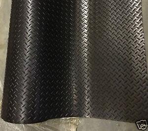 2m De Sol En Caoutchouc Nattes Checker Style Anti Glisse 1,5 M De Large X 3 Mm D'épaisseur Commercial-afficher Le Titre D'origine Par Processus Scientifique