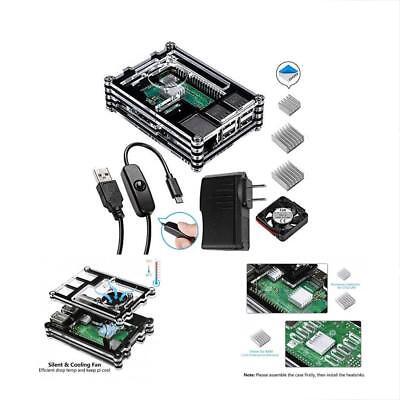 Heatsinks Smraza Black Case for Raspberry Pi 3 only with Fan