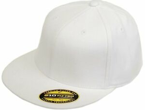 Yupoong-6210-Flexfit-Premium-Fitted-Cap-White-L-XL