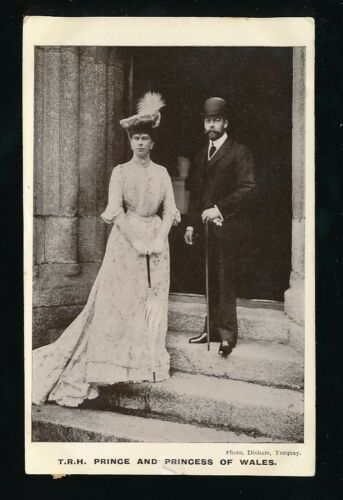 Royalty TRH Prince King G5 and Princess of Wales 1906 RP PPC