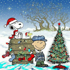 Disney Charlie Brown And Snoopy Two Xmas Tree Cross Stitch Pattern