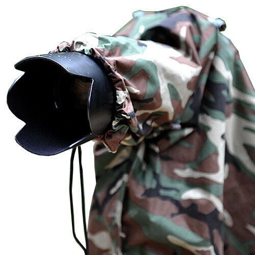 Matin cámara cubierta de la lluvia Camuflaje Ejército Lente de 400mm Para Olympus Pentax L
