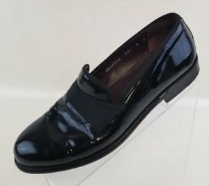 Salvatore-Ferragamo-Loafers-Antoane-Mens-Black-Patent-Leather-Slip-On-Shoes-8D