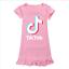 Kids-Girls-Tik-Tok-Nightdress-Short-Sleeve-Nightie-Skirt-Sleepwear-Nightwear-Top thumbnail 3