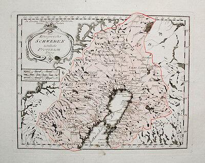 FleißIg 1789 Skandinavien Sweden Schweden Sverige Norwegen Finnland Suomi Lappland Karte