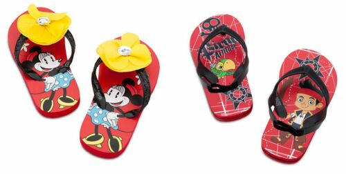 DISNEY Jake AND Never Land Pirates OR Minnie Mouse Minnie FLIP FLOPS MULTI SIZES