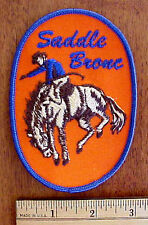 RODEO COWBOY BRONCO RIDER SADDLE BRONC EMBROIDERED PATCH
