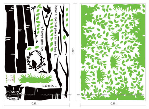 Giant Green Tree /& Birds Removable Wall Stickers Vinyl Art Decal Mural Wallpaper