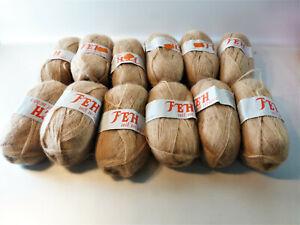Wolle beige 12 x 50 g Zentex GmbH,FEH 80 % Polyacryl, 20 % Mohair stricken