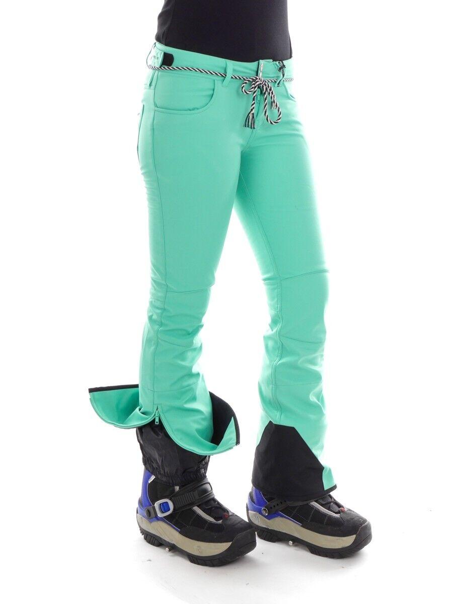 Brunotti Skihose Softshellhose Snowboardhose grün Rigging 15k 15k 15k Skinny bc87c5