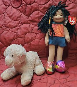 NWT TY Teenie Beanie Boppers Collection Jazzy Jessie & Used Pink Soybean Plush