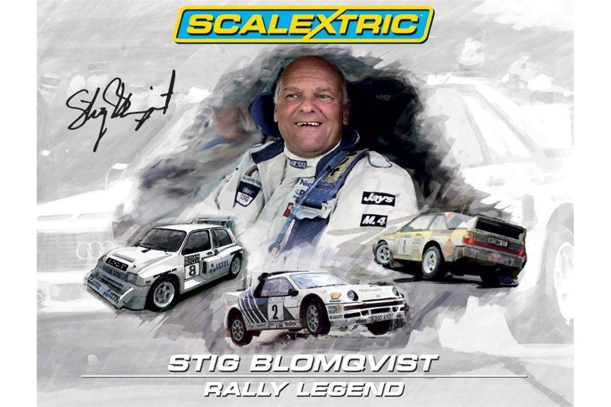 Scalextric c3372a coffret stig blomqvist rallye - legende - limited edition