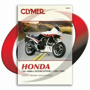 1984-1985-Honda-VF700F-INTERCEPTOR-Repair-Manual-Clymer-M349-Service-Shop