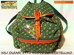 NAJ-OLEARI-Puro-VINTAGE-borsa-ZAINO-zainetto-Backpack-Bag-1991-con-CARTELLINO