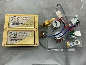 Humbucker-ProBucker Epiphone mit Push//Pull Kabel in Gold Farbe