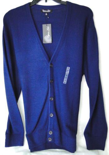 Cardigan bleu pull Palmer Vintage-Cool dans 100/% acrylique PDSF $50 Neuf Avec étiquettes-XL