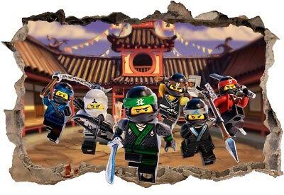S5 Ninjago 120cm Sticker 3d Lego Wandaufkleber Wandtattoo Ebay