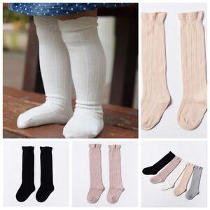 nouveau produit 9d53f 07007 Détails sur Filles tout-petits collants coton chaussettes haute bébé  chauffage