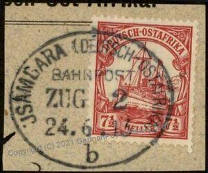 Germany 1913 East Africa Ostafrika DOA Usambarabahn Zug 2b Train Bahnpost  85381