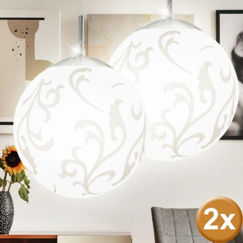 2er Set suspensions Chambre Pendule Verre de Lampe Boule De Plafond Projecteur